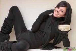 Sex Kitten Catie Minx Black Leather